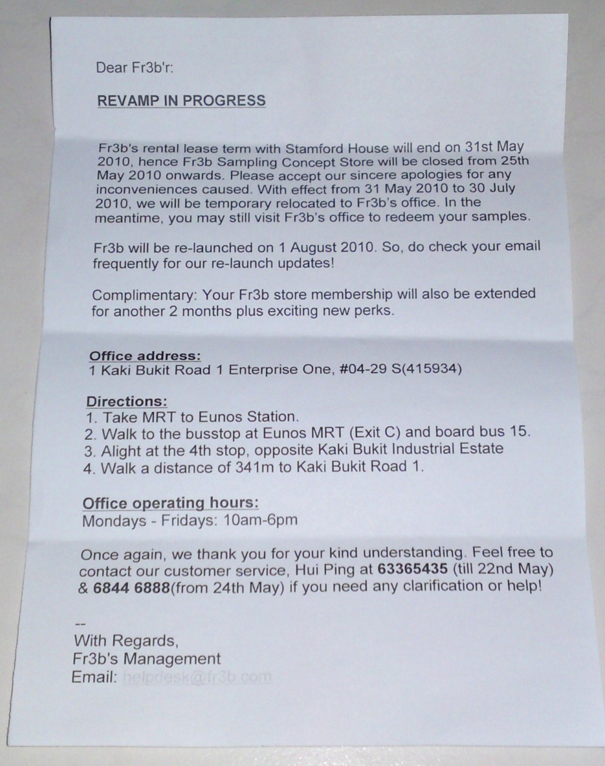 Sample redemption letter How to