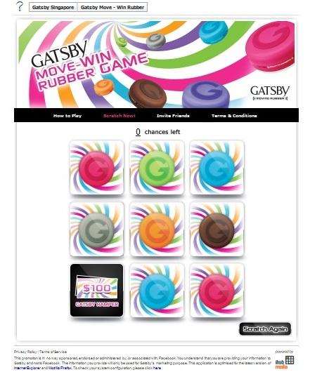 Gatsby Move- Win Rubber Game